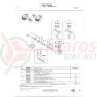 Placa placute pedale Shimano PD-7410 + Suruburi M4