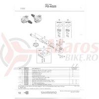 Placa placute pedale Shimano PD-A525 + Suruburi (M4)