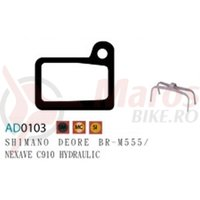 Placute frana Ashima AD0103 sintered compatibile Deore BR-M555/Nexave C910 Hyd.