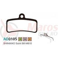 Placute frana Ashima AD0105, semi-metalice, compatibile Shimano Saint BR-M810