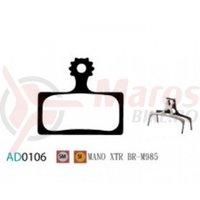 Placute frana Ashima AD0106, semi-metalice, compatibile Shimano XTR BR-M 985/XT, M785/SLX , M666.