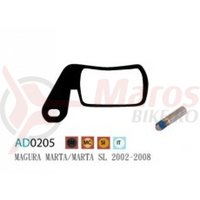Placute frana Ashima AD0205, semi-metalice, compatibile Magura Marta/Marta SL 2002-2008