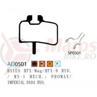 Placute frana Ashima AD0501, semi-metalice, compatibile Hayes HFX-Mag, HFX-9Hydr.MX-1 Mech.