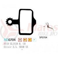 Placute frana Ashima AD0704, semi-metalice, compatibile Avid Elixir R