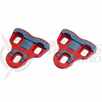 Placute pedale BBB PowerClip BPD-06F11, unghi 4,5 grade, rosii