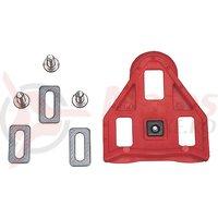 Placute pedale Union UR-5 sosea, plastic rosu 9 grade sistem Look Keo