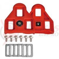 Placute Wellgo-RC5 ptr. pantofi SPD compatibile pedale Look 9 grade rosii
