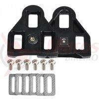 Placute Wellgo-RC6 ptr. pantofi SPD compatibile pedale Look 0 grade negre