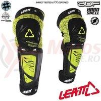Protectie Leatt genunchi si tibie Guard 3DF Hybrid EXT black/lime
