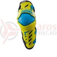 Protectie Leatt genunchi si tibia Guard Dual Axis lime/blue