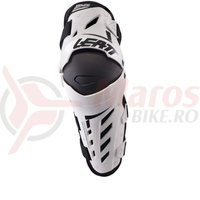 Protectie Leatt Knee & Shin Guard Dual Axis white/black