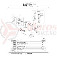 RD-M770 boltului de fixare a cablului & plate Shimano