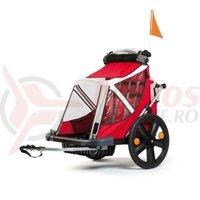 Remorca Bellelli B-Travel pentru transport copii pliabila rosu/gri/alb