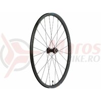 Roata Shimano WH-RX570-700C fata 24h Old 100mm ax 12mm E-THRU tubeless negru center lock