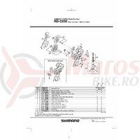Role ghidare schimbator Shimano RD-C050
