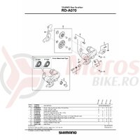 Role schimbator ghidare & tensionare Shimano RD-A070