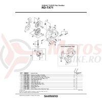 Role schimbator tensionare Shimano RD-TX71