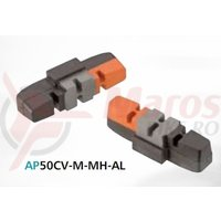 Saboti Ashima AP50CV-M-MH-AL-MTB, pentru franele pe janta Magura HS33, negru/gri/portocaliu