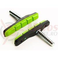 Saboti de frana Bikefun MTB 72 mm fara filet negru/verde