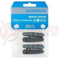 Saboti de frana Shimano R55C3 carbon 2 per.
