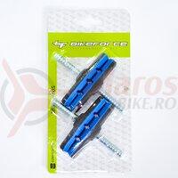 Saboti frana cu tija 12T2G2 - 70 mm negru/albastru, 2 perechi
