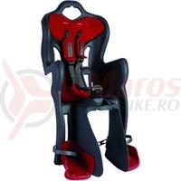 Scaun bicicleta Bellelli B-one Clamp gri/rosu spate max 22 kg.