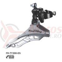 Schimbator fata Shimano Tourney FD-TY300 triplu SIS 34.9mm 42T CS66-69