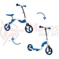 Scooter & bike pentru copii 2 in 1 albastru