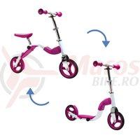 Scooter & bike pentru copii 2 in 1 roz