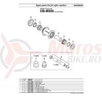 Scula Shimano TL-HB80 HB-M800 Hub Setting Tool