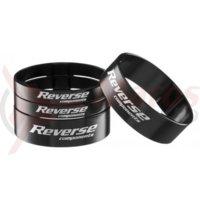 Set distantiere Reverse 1.1/8 aluminiu negre