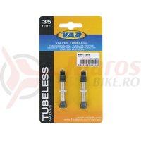 Set valve presta tubeless Var Tools din alama 35 mm 2buc