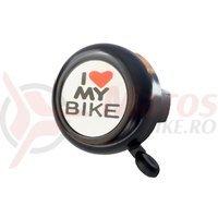 Sonerie Bikefun I Love My Bike neagra