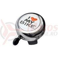 Sonerie Bikefun I Love My Bike nichelata