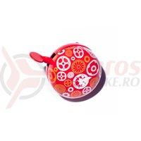 Sonerie Pegas Ding-Dong 60 mm rosu/roz/galben
