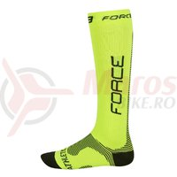 Sosete Force Athletic compression fluo/negru