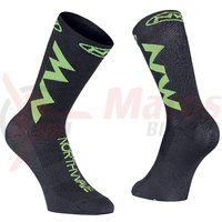 Sosete Northwave Extreme Air black/lime fluo