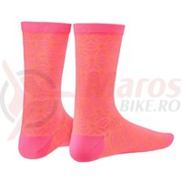 Sosete Supacaz Asanoha roz neon/orange neon