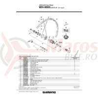Spita Shimano WH-9000-C24-CL-R Dreapta 300mm