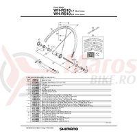 Spita Shimano WH-RS10 284mm Negru