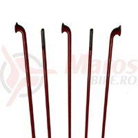 Spite CN Spoke inox 2x253mm rosii 100 buc