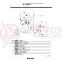 ST-6703 Shimano Ultegra capac maneta dreata A & surub stanga