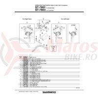 ST-7803 Shimano Dura Ace capac maneta dreata & surub