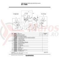 ST-7900 R.H. capac maneta Shimano & surub Shimano