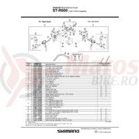 ST-R600 Shimano distantier 10 grade dreapta