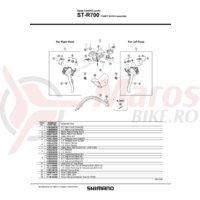 ST-R700 Shimano distantier 4 grade dreapta