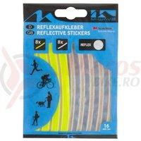 Stickere reflectorizante (8 buc. galbene si 8 buc.argintii)