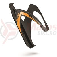 Suport de bidon elite custom race skin black soft touch with orange fluo graphic