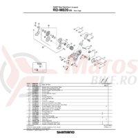 Suport de prindere pe urechea de schimbator Shimano RD-M820 pentru normal