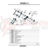 Suport de prindere pe urechea de schimbator Shimano RD-M9000 pentru tip normal